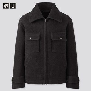 MEN U WOOL-BLEND FLEECE JACKET